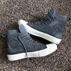 Converse with Lunarlon - Grey leather, Waterproof